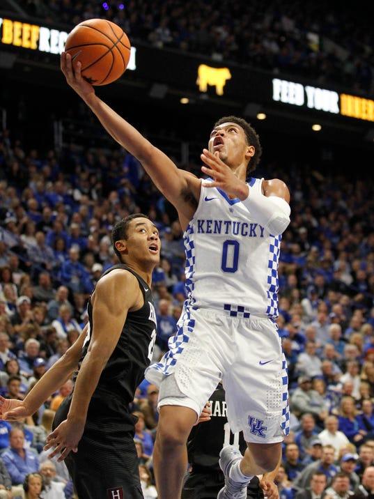 NCAA Basketball: Harvard at Kentucky
