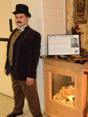 Jim Salamay of Plymouth portrays Nicola Tesla, best known for his work with alternating current that debuted at the 1893 World's Columbian Exposition.