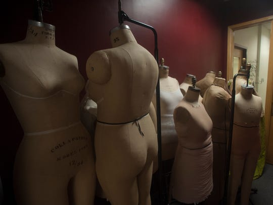 A variety of mannequins stand at the ready at the Opera Philadelphia Costume Shop in Philadelphia.