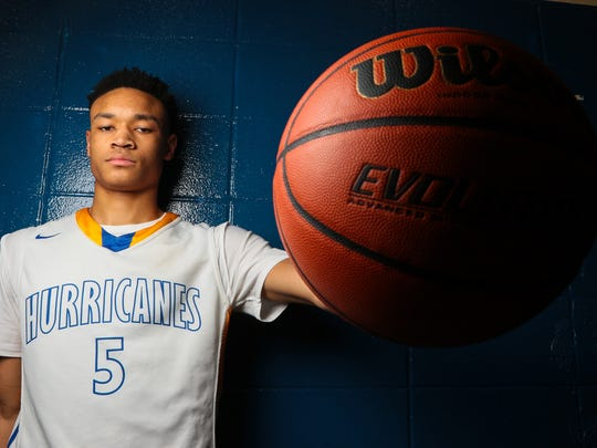 Trey McGowens, a junior at Wren High School, is the Independent Mail 2016-17 boys basketball player of the year.