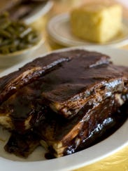 Barbecue ribs are a favorite at Corinne's Place in