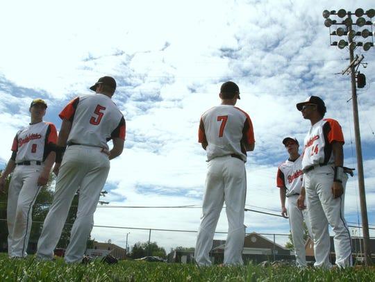 Anderson High School's baseball team prepares for a