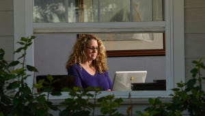Patti McCreary telecommutes out of her San Diego-area home for a company headquartered in New York.