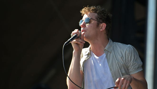 Anderson East performs at The Pilgrimage Music & Heritage Festival in Franklin, Tenn, on Sunday September 25.