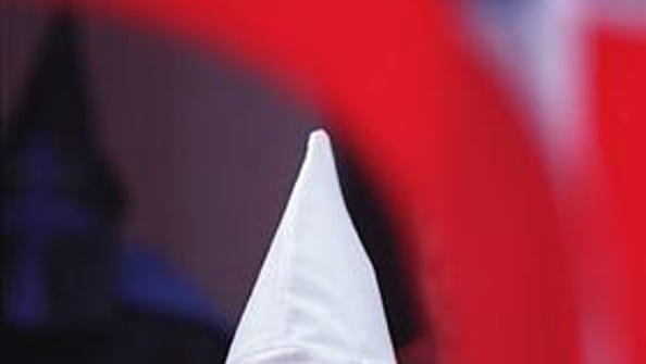 A Ku Klux Klan member appeared at a September 1999