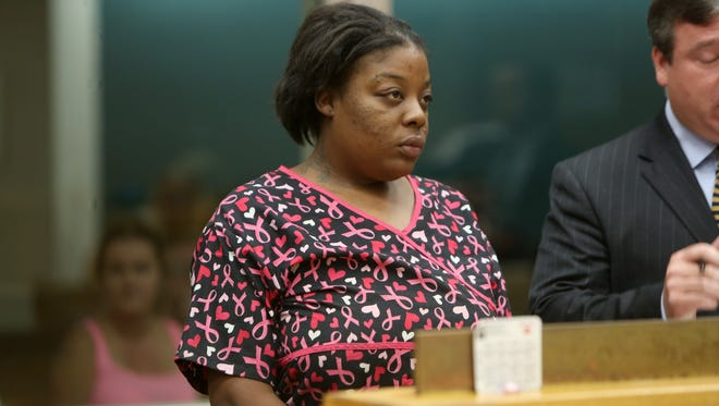 Nikkita Cromwell appears in court Monday morning.