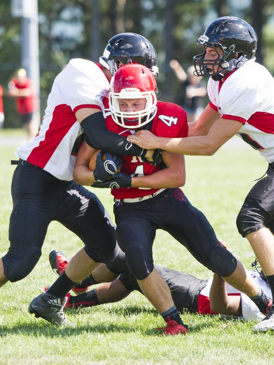 Riverheads football scrimmage