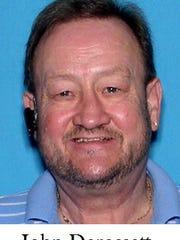 John Derossett, a suspect in the shooting of Brevard