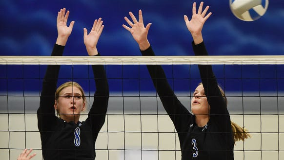 Sioux Falls Christian's Samantha Fykstra and Grace