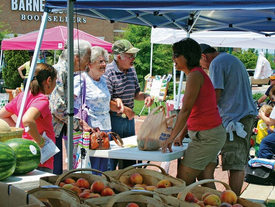 The Hendersonville Farmers Market is held at the Streets