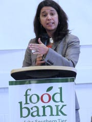 Natasha Thompson, president of the Food Bank of the