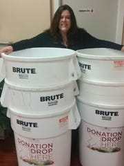 Kathy Denz is ready to collect donations for the Food Bank of South Jersey. This is the 20th year that she's spearheaded a local food drive.
