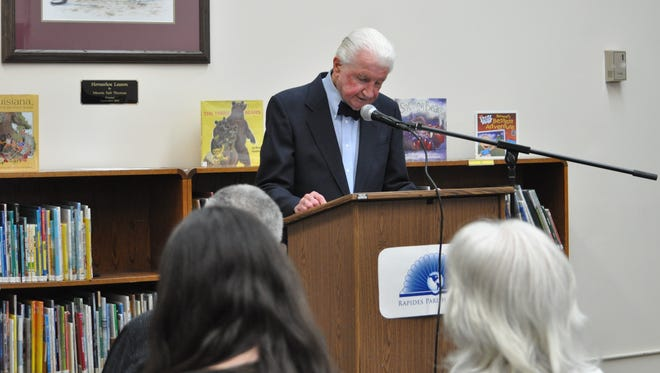 Architect Gene Glankler, who's in his 90s now, spoke Thursday at the Rapides Parish Main Library's 50th birthday celebration. The building was designed primarily by   of Glankler, Broadwell, DeKeyzer and Boutee architects and engineers.