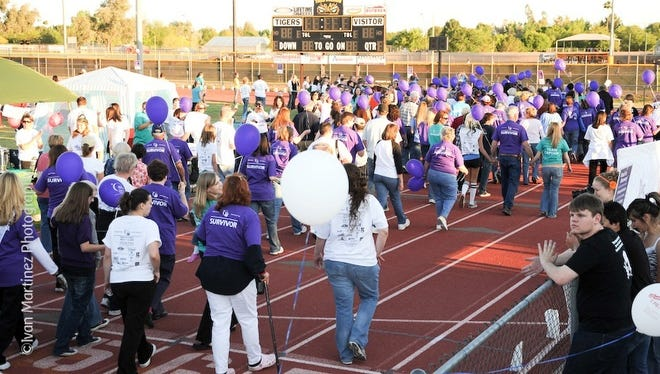 This is a 2009 photo of the Relay for Life. This  overnight event is designed to celebrate survivorship and raise money for research and programs for the American Cancer Society.
