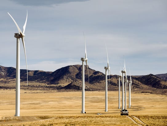 Wind turbines in operation at First Wind's Milford