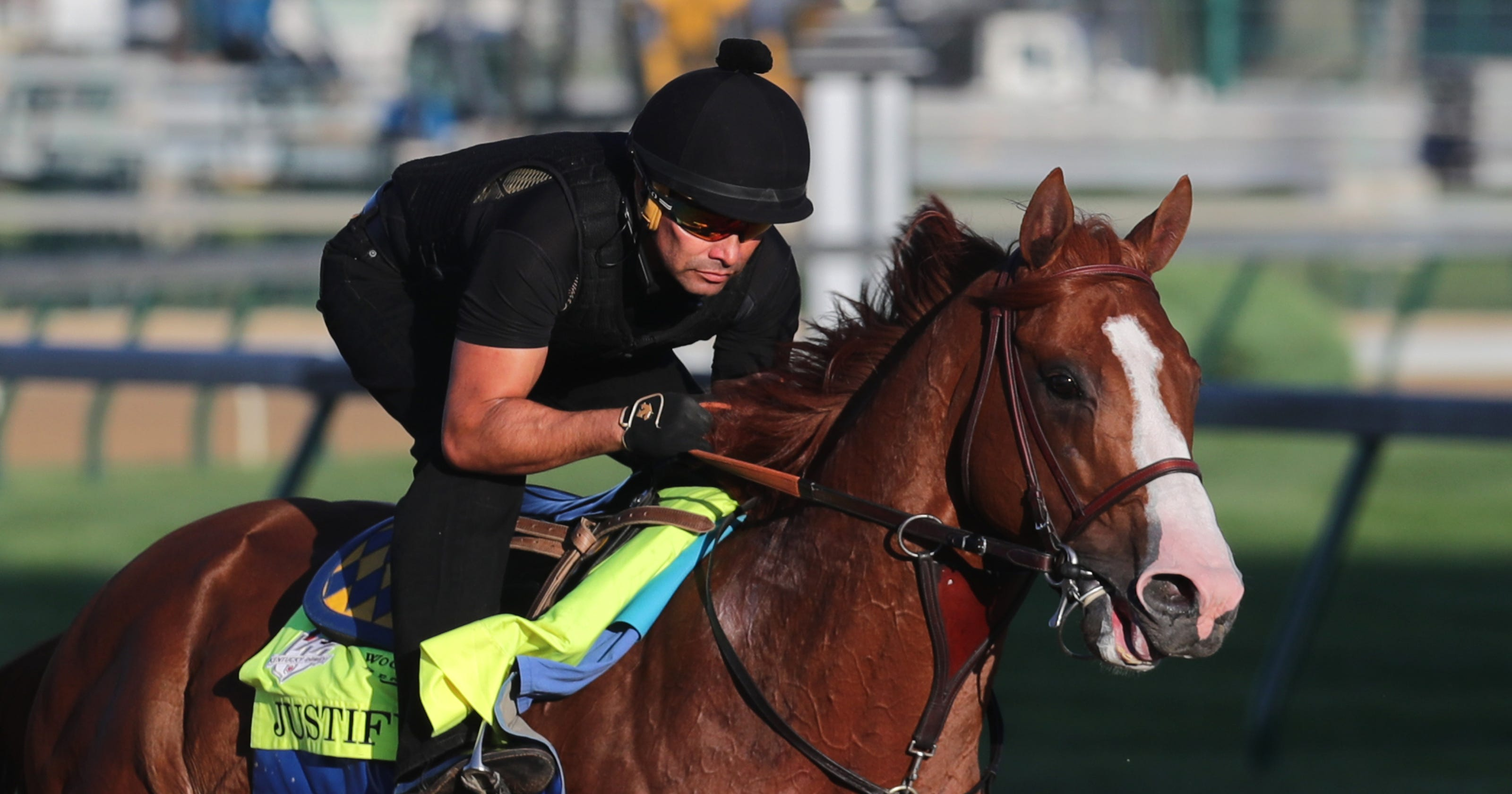 9a8773be5a6b Justify shows  good bounce  in return to training for Belmont 2018