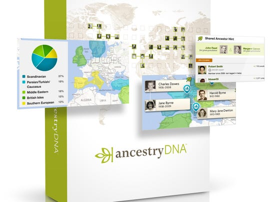 A screenshot of the AncestryDNA kit, which helps you