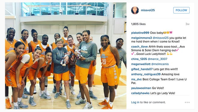 Glory Johnson's Instagram photo shows her twins were taken to a basketball game on March 18.