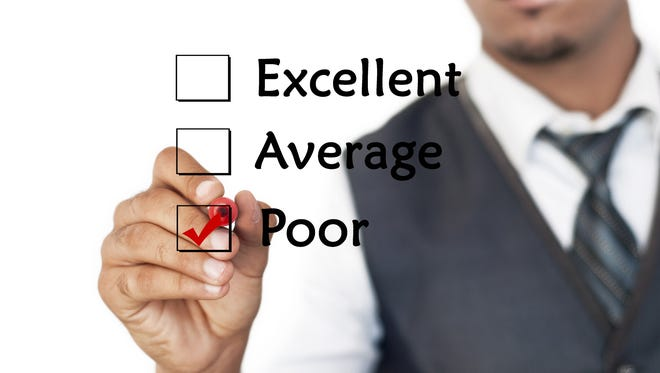 Once you get a poor rating on an evaluation, you can't change it. But you can change the next one.