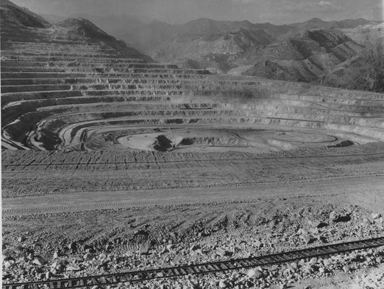 The Morenci open-pit mine in 1972. The fates of Morenci