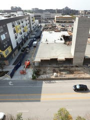 Construction continues on the Artistry apartment at 451 E. Market St., Oct. 1, 2014.