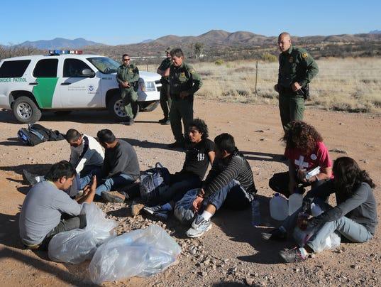 U.S. Border Patrol Detains Immigrants Crossing Into Arizona