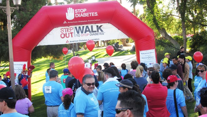 Participants at the beginning of the 2017 Step Out Walk to Stop Diabetes, Coachella Valley.