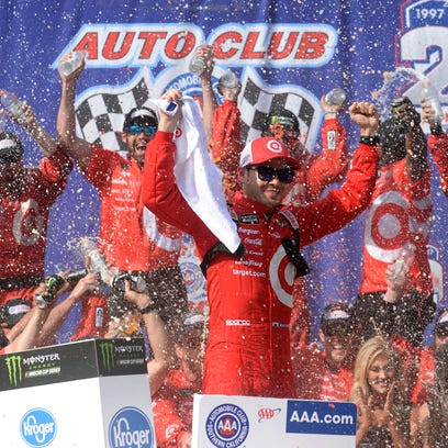 On the Track: Kyle Larson notches first win