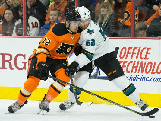 NHL: San Jose Sharks at Philadelphia Flyers