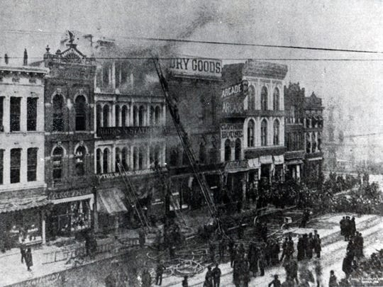 On March 17, 1890, the Bowen-Merrill Company stationery and book store at 16-18 West Washington Street caught fire. It is the deadliest fire for fighters in Indianapolis history.