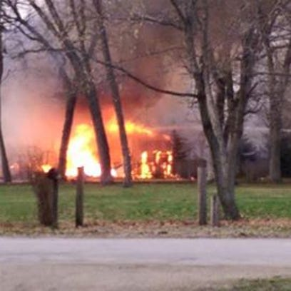 Fire damages home in Egleston Twp.