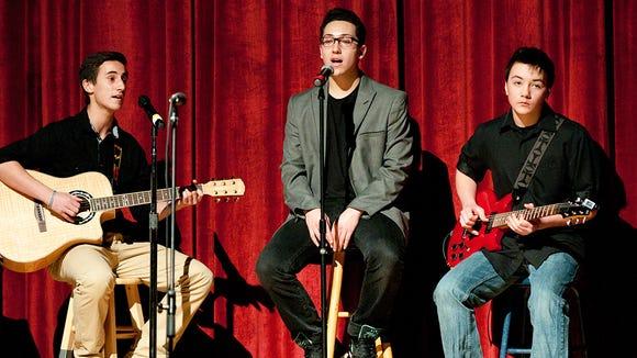 "Astronauts Wanted (Lorenzo Maldonado, Aaron Rizzo, and Nate Kirsch) perform ""Luna."""