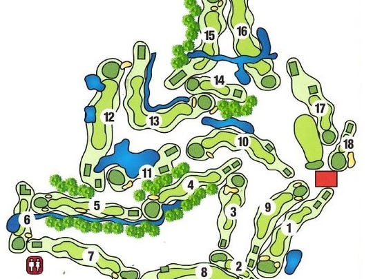 An overview of the golf course.