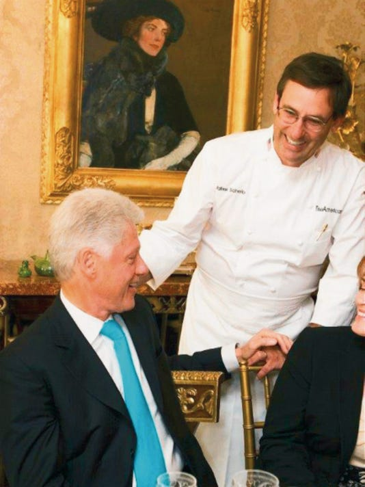Courtesy   Former White House chef Walter Scheib with former President Bill Clinton.