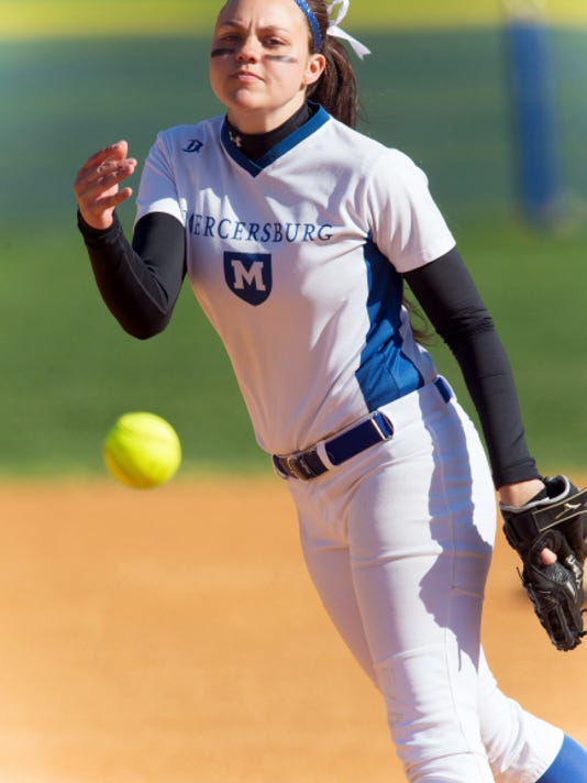 Pitcher Sydney Reath has racked up 573 strikeouts, two perfect games and four no-hitters in her career at Mercersburg Academy. This season, she had a 2.14 ERA and 123 strikeouts in 71 innings. She is the Public Opinion Softball Player of the Year.