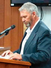 Gary Mitchell, chairman of the Lincoln County Medical Center Board of Trustees, spoke about fund-raising difficulties.