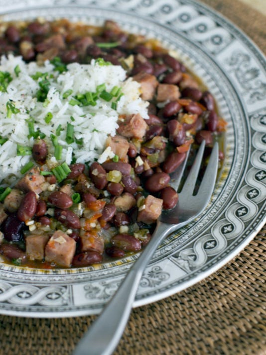 Red beans and rice is a dish full of nutrition and one that won't break the budget. (AP Photo/Matthew Mead)
