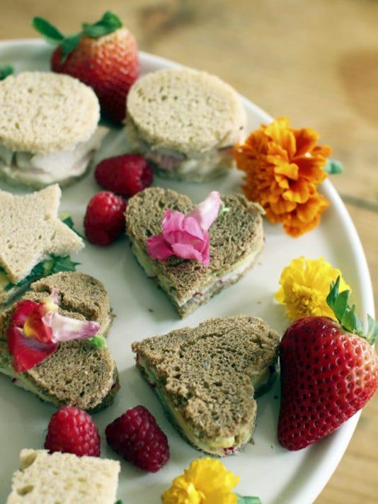 Mother's Day tea sandwiches (AP Photo/Matthew Mead)