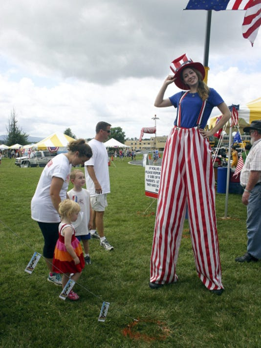 """Uncle Sam"" greets visitors to Waynesboro's 2013 Summer Jubilee, the annual Fourth of July festival."