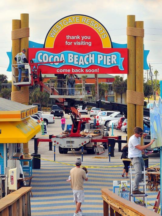 COCOA BEACH PIER SIGN