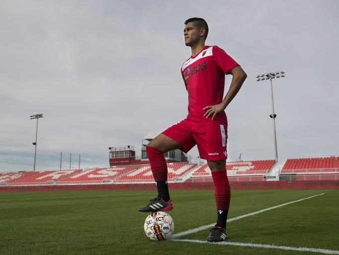 Phoenix Rising FC midfielder Collin Fernandez at the