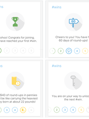 Encouraging icons from Fifth Third's new Momentum app,