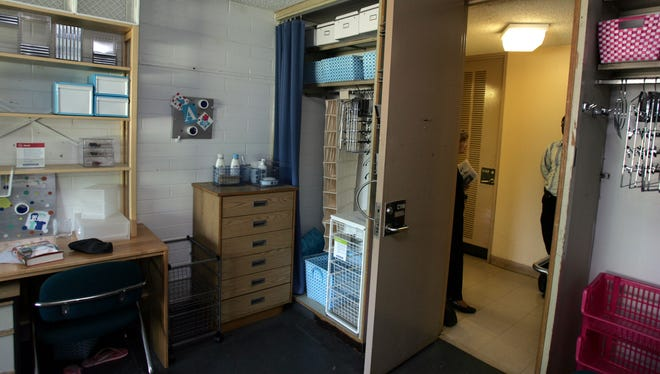 The interior of a dorm room at Purchase College SUNY May 10, 2007.