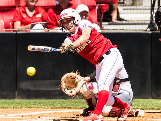 UL rightfielder Haley Hayden has her batting average