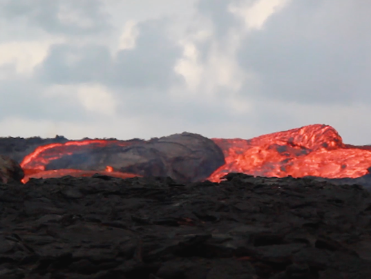 Lava flowing at 15 mph in Hawaii