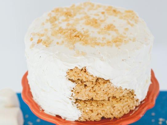 Make Rice Krispies Treats in springform pans, stack