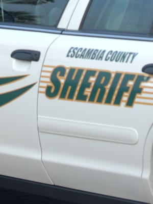 A man hit an ECSO patrol car on Scenic Highway on Monday.