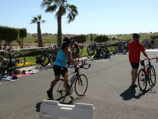 Tessa Stotts participated in her first triathlon six