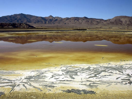 In this Nov. 30, 2004, file photo, an evaporation pond
