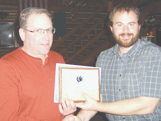 Lucas Cotton (Newaygo Conservation District) with Jeff